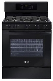 LRG3091SB LG 5.4 Cu. Ft. Gas Single Oven Range with 5 Sealed Burners - Black