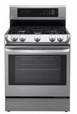 "LRG4111ST 30"" LG 6.3 Cu. Ft. Capacity Gas Range with ProBake Convection and EasyClean Technology - Stainless Steel"
