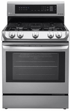 "LRG4113ST LG 6.3 Cu. Ft. Capacity 30"" Freestanding Gas Range with ProBake Convection - Stainless Steel"