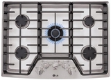 "LSCG306ST LG Studio 30"" Gas Cooktop with Dual Stacked Center Burner - Stainless Steel"