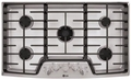 "LSCG366ST LG Studio 36"" Gas Cooktop with Dual Stacked Center Burner - Stainless Steel"