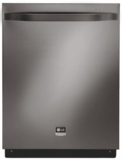 "LSDF9969BD LG 24"" Fully Integrated Dishwasher with 7 Wash cycles and Steam Power Cycle - Black Stainless Steel"