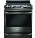 "LSE4613BD 30"" LG 6.3 cu. ft. Electric Slide-In Range with Probake Convection and Easy Clean - Black Stainless Steel"