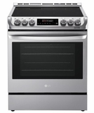 "LSE4611ST 30"" LG 6.3 Cu. Ft. Capacity Slide-In Electric Range with ProBake Convection and EasyClean Interior  - Stainless Steel"