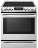 "LSE4617ST LG 30"" Slide-In Induction Electric Range with Infrared Grill and ProBake Convection - Stainless Steel"