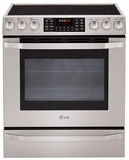 LSES302ST LG Studio 5.4 Cu. Ft. Capacity Electric Slide-in Oven Range with Dual True Convection System - Stainless Steel