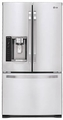 LSFS213ST LG Studio Large Capacity Counter Depth French Door Refrigerator with Ice & Water Dispenser - Stainless Steel