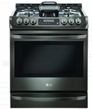 "LSG4513BD LG 30"" 6.3 cu. ft. Gas Slide-in Range with ProBake Convection - Black Stainless Steel"