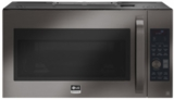 """LSMC3089BD LG 30"""" 1.7 cu. ft. Over-the-Range Convection Microwave Oven with Sensor Cook and Circular Wire Rack - Black Stainless Steel"""