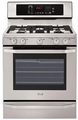LSRG309ST LG Studio 5.4 Cu. Ft. Gas Single Oven Range with Evenjet Convection System - Stainless Steel