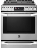 "LSSE3026ST LG 30"" Slide-In Electric Range with 5 Radiant Elements - Stainless Steel"