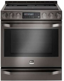 "LSSE3029BD LG 30"" 6.3 cu. ft Gas Slide-in Range with ProBake Convection - Black Stainless Steel"