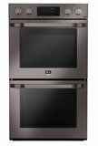 """LSWD309BD LG 30"""" Double Wall Oven with 9.4 cu. ft. Capacity with EasyClean and Smart ThinQ - Black Stainless Steel"""