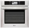 "LSWS305ST LG Studio 30"" Built-in Convection Wall Oven with 6.3"" LCD Touch-Screen Controls - Stainless Steel"