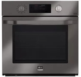 """LSWS309BD LG 30"""" Single Wall Oven with 4.7 cu. ft. Capacity with EasyClean and Smart ThinQ - Black Stainless Steel"""