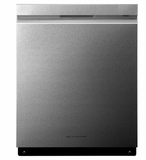 "LUDP8996SN LG 24"" Fully Integrated Dishwasher with TrueSteam and QuadWash - Stainless Steel"