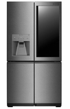 "LUPXC2386N 36"" LG Signature Series 22.8 cu. ft. Capacity Counter Depth French Door Refrigerator with LUMIShelf Lighting and Instaview Window - Textured Steel"