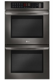 "LWD3063BD LG 30"" Double Wall Oven with 9.4 cu. ft. Capacity and Convection - Black Stainless Steel"