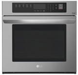 "LWS3063BD LG 30"" Wall Oven with 4.7 cu. ft. Capacity and Convection - Black Stainless Steel"