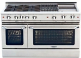 "MCR484BGL Capital Precision Series 48"" LP Gas Range with 4 Power-Flo Burners, Thermo Griddle & Hybrid Radiant BBQ Grill - Stainless Steel"