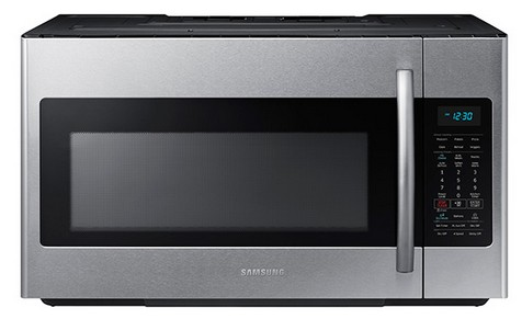 Me18h704sfs Samsung 1 8 Cu Ft Over The Range Microwave With Sensor Cooking Stainless