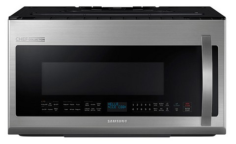 Me21h9900as Samsung 2 1 Cu Ft Over The Range Microwave With Pro Clean Filter