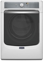 MED7100DW Maytag Maxima 7.4 cu. ft. Steam Electric Dryer with Large Capacity and Stainless Steel Dryer Drum - White