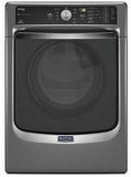 MED8100DC Maytag Maxima 7.4 cu. ft. Front Load Steam Dryer with SoundGuard Stainless Steel Dryer Drum - Slate
