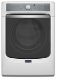 MED8100DW Maytag Maxima 7.4 cu. ft. Front Load Steam Dryer with SoundGuard Stainless Steel Dryer Drum - White