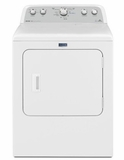 """MEDX6STBW 29"""" Maytag Bravos Series 7.0 cu. ft. Capacity Front Load Electric Dryer with Sanitize Cycle and Steam - White"""