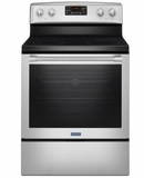 "MER8650FZ 30"" Maytag Heritage Series  6.4 cu. ft. Free Standing Electric Range with AquaLift Self-Clean and Fan Convection - Fingerprint Resistant - Stainless Steel"