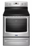 "MER8700DS 30"" Maytag Free standing 6.2 cu. ft. Free Standing Electric Range with Variable Broil and Storage Drawer - Fingerprint Resistant - Stainless Steel"