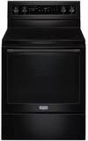 """MER8800FB 30"""" Maytag 6.4 cu. ft. Electric Range with True Convection and Power Preheat - Black"""
