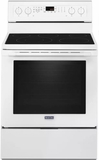 """MER8800FW 30"""" Maytag 6.4 cu. ft. Electric Range with True Convection and Power Preheat - White"""
