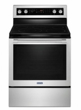 "MER8800FZ 30"" Maytag 6.4 cu. ft. Finger Print Resistant Electric Range with True Convection and Power Preheat - Stainless Steel"