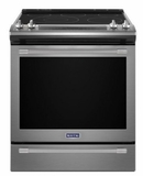 "MES8800FZ 30"" Maytag 6.4 cu. ft. Finger Print Resistant Slide-In Electric Range with True Convection and Fit System - Stainless Steel"