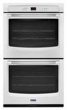 MEW7627DH Maytag 27-Inch Double Wall Oven with Precision Cooking System - White with Stainless Handles
