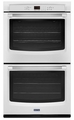 MEW7630DH Maytag 30-Inch Double Wall Oven with Precision Cooking System - White with Stainless Handles