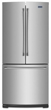 MFF2055DRM Maytag 19.6 cu ft French Door Refrigerator - Monochromatic Stainless Steel