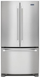 MFF2258DEM Maytag 22 cu. ft. 3-Door French Door Refrigerator with Strongbox Door Hinges - Stainless Steel