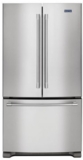 "MFF2558FEZ Maytag 36"" French Door Refrigerator with BrightSeries LED Lighting and Humidity Controlled FreshLock - Stainless Steel"