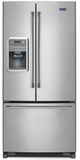 MFI2269DRM Maytag 22 Cu. Ft. French Door Refrigerator with Wide-n-Fresh Deli Drawer - Stainless Steel