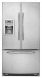 MFI2269VEM Maytag Energy Star Full-Depth French Door Bottom-Freezer Refrigerator - Monochromatic Stainless Steel