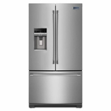 MFT2776DEM Maytag 27 cu. ft. French Door Refrigerator with PowerCold Feature - Monochromatic Stainless Steel