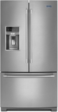"""MFT2776FEZ Maytag 36"""" 26.8 cu. ft. Capacity French Door Refrigerator with 3 Glass Shelves and Full-Width Storage Drawer - Stainless Steel"""