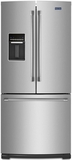 MFW2055DRM Maytag 19.6 Cu. Ft. French Door Refrigerator with Strongbox Door Bins - Stainless Steel