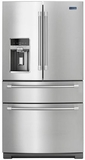 MFX2876DRM Maytag 4-Door French Door Refrigerator with Steel Shelves - 26 cu. ft. - Stainless Steel