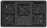 MGC4436BDB Maytag 36-inch Gas Cooktop with Two Power Cook Burners - Black