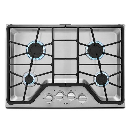 High Quality MGC7430DS Maytag 30 Inch 4 Burner Gas Cooktop With Power Burner   Stainless  Steel