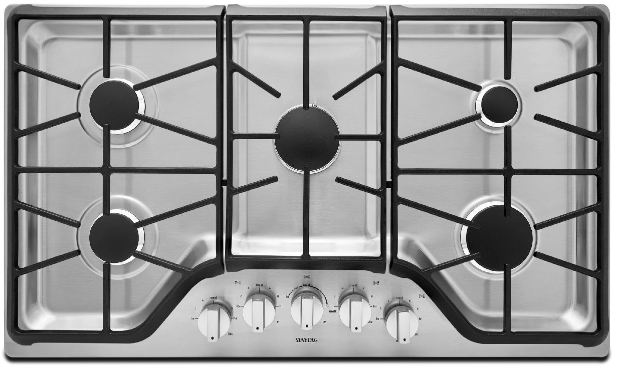 Delightful MGC9536DS Maytag 36 Inch 5 Burner Gas Cooktop With DuraGuard Protective  Finish   Stainless